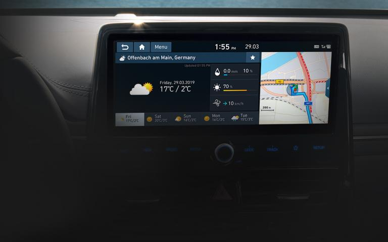 "10,25"" Audio Video Navigation-systeem van een Hyundai Ioniq Hybrid 2019"